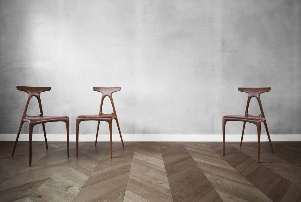 The Alpha chair is a solid wood chair with a classic and smooth design and it's made from the latest production technologies.