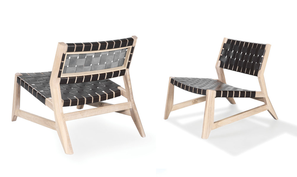 2. ODHIN BY WEWOOD   These scooped leather-strapped chairs bring a lot of character to any contemporary living room.