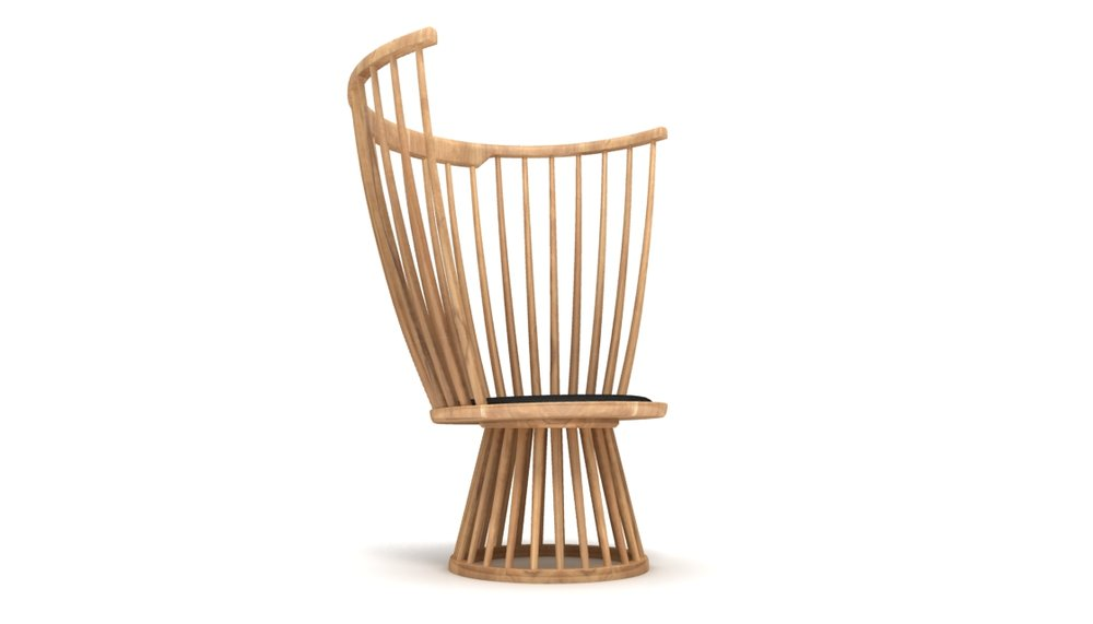 3. FAN CHAIR BY TOM DIXON    FAN  creates an exclamation mark in the home - a dramatic and sculptural take on the traditional British Windsor chair.