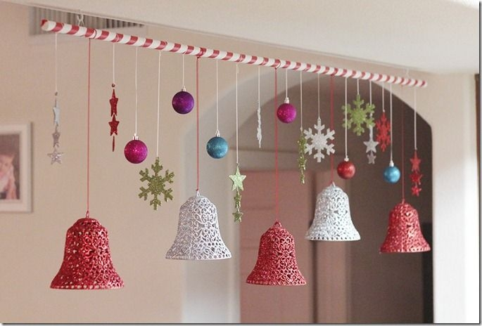 Christmas hanging ceiling decorations home design for Hanging christmas decorations