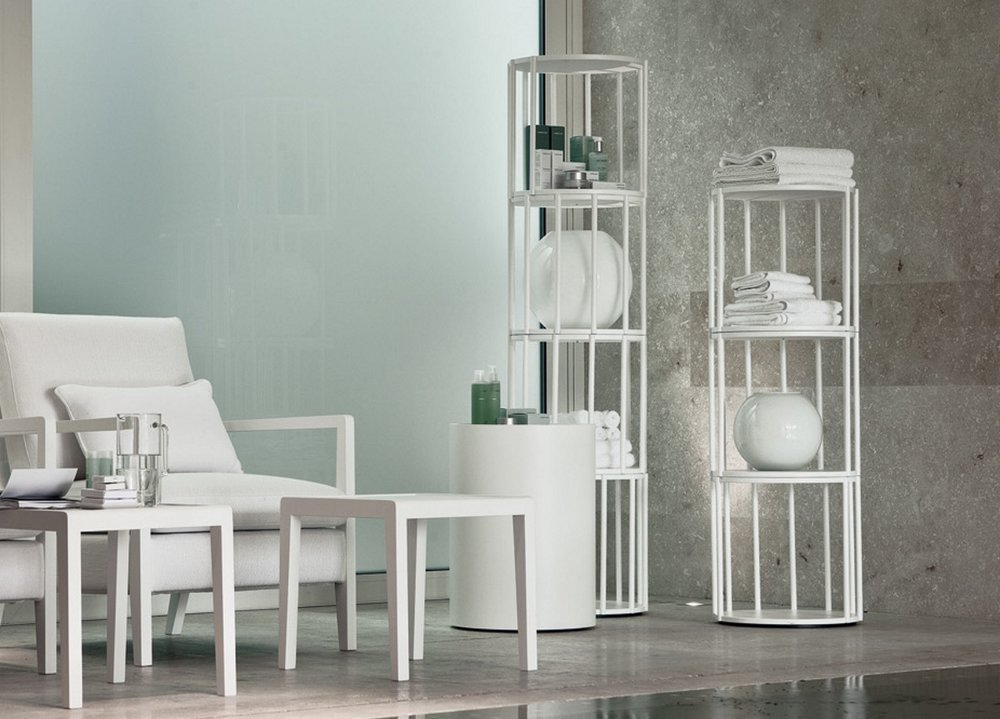 Cell bookcase  from porada is a modular system as each piece can be stacked to create different height and uses.