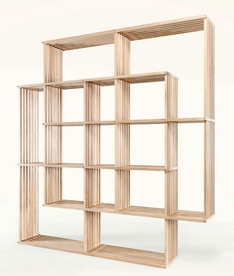 smart shelf wood slats