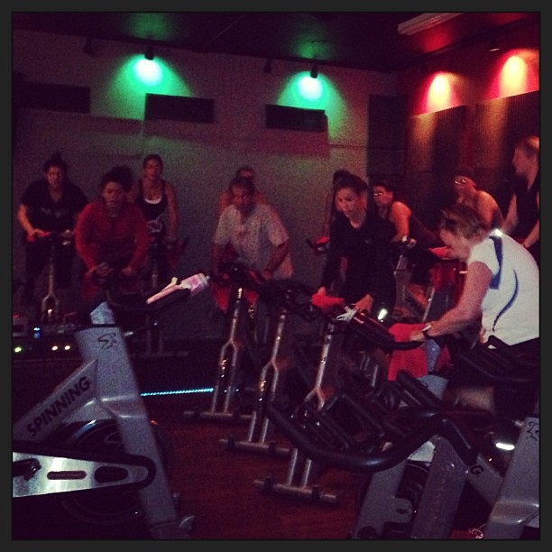 My spinning class at 8pm was amazing!!! Thank you everybody!!!