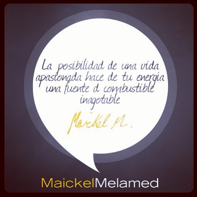 Será por eso que mi energía no se acaba nunca? 😎😉😋 gracias de nuevo @maickelmelamed eres un increíble motivador!!!