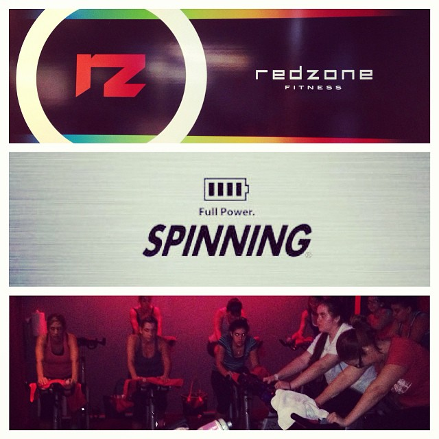 Ready to my spinning class at 6:00pm  www.redzonegables.com   (at Red Zone Fitness)