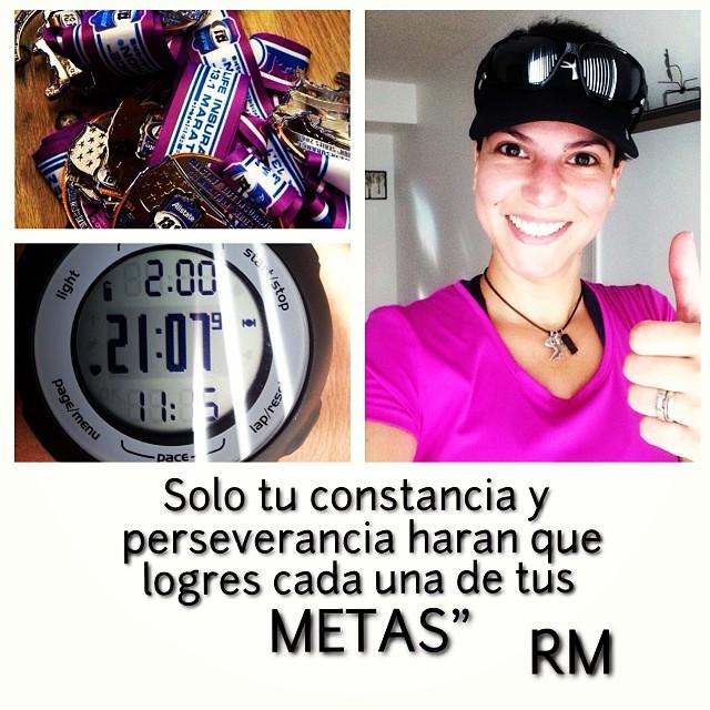 """""""Solo tu constancia y perseverancia harán que logres cada una de tus metas"""" RM 😎 #ofcourseyoucan  (at Brickell Run)"""