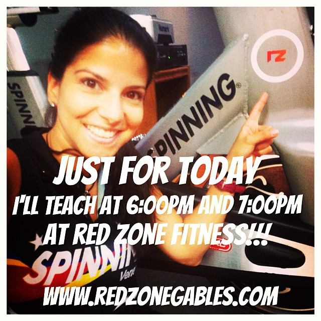 Just for TODAY!!! I'll teach at 6:00pm AND 7:000pm at    @redzonefitness   www.redzonegables.com