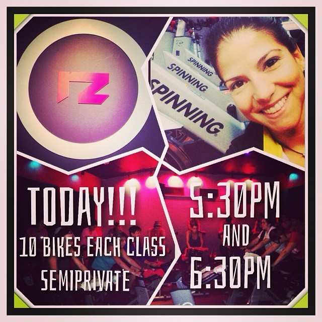 Today! Semiprivate classes at 5:30pm and 6:30pm, with 10 bikes each, at Red Zone Fitness. Book your bike in time to share with us an incredibly different experience! @redzonefitness  😎#ofcourseyoucan  (at Red Zone Fitness)