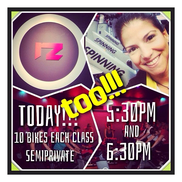 TODAY TOO!!! Semi private classes at 5:30pm AND 6:30pm, with 10 bikes each, at @redzonefitness . Book your bike in time to share with us an incredibly different experience!!! 😎#ofcourseyoucan  (at Red Zone Fitness)
