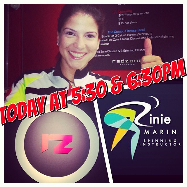 See you tonight at 5:30 AND 6:30pm at @redzonefitness!!! Great Music!!! Great Energy!!! Same Great Spinning Program!!! #riniemarin #spinning #spinningmiami 😎#ofcourseyoucan