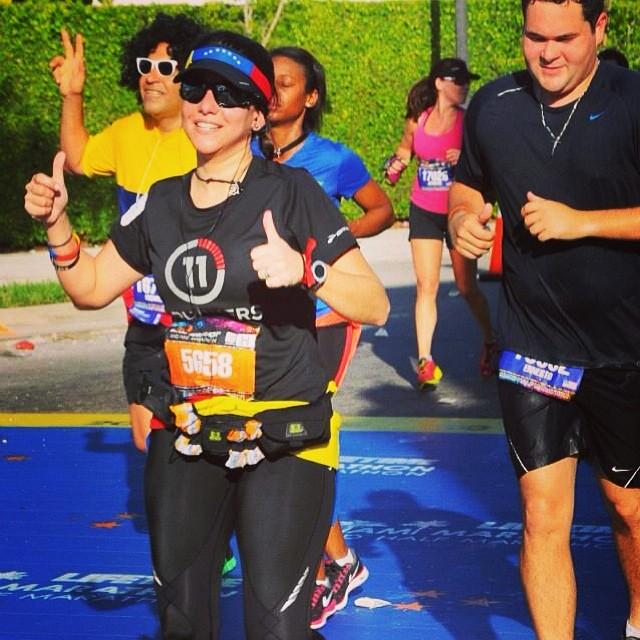 ING Miami FULL Marathon / Feb, 22014 / Miles 12 #riniemarin #spinning #soyvenezolano #spinningmiami #ofcourseyoucan  (at Miami Marathon 2014)