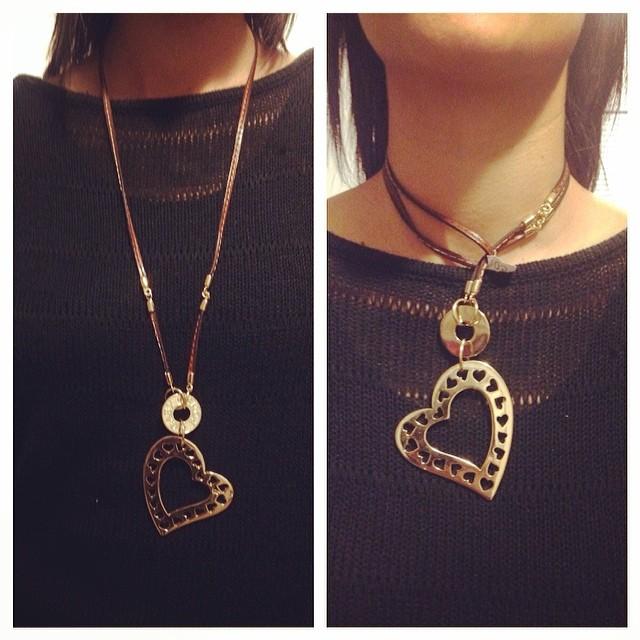 El mismo collar… Dos maneras diferentes de usarlo!!! Bellisimo!!! @bekorausa es ESTE el que quiero 😂😂😂!!!