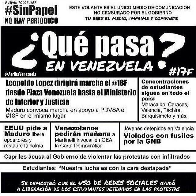 Pasa la información para que todos sepamos que esta pasando… Porque la lucha sigue!!! Es ahora o nunca!!! #lasalida #llegolahora #laluchasigue #venezuelacomoteextrano #venezuelatequierolibre #comomeduelesvenezuela #2f   #12f #13f #14f #15f #16f #17f #sosvenezuela #soyvenezolano #prayforvenezuela