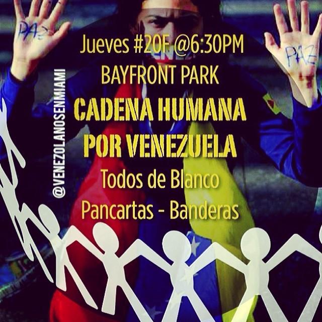Corre la voz!!! VAMOS!!! #lasalida #llegolahora #laluchasigue #venezuelacomoteextrano #venezuelatequierolibre #comomeduelesvenezuela #20f #soyvenezolano #sosvenezuela #prayforvenezuela #elquesecansapierde @venezolanosenmiami @ca_ea_mom @henderg @kathrinegonz @vmendible