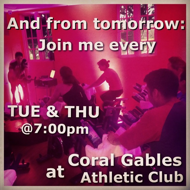Y desde mañana tambien: Unete a mi todos los Martes y Jueves a las 7:00pm en @coralgablesathleticclub!!!  (at Coral Gables Athletic Club)