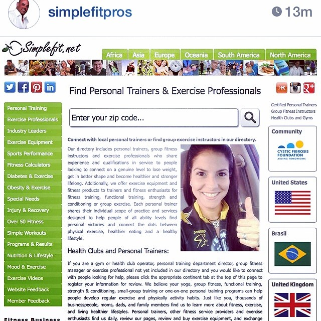 Thank you @simplefitpros 👍👍👍💪💪💪👏👏👏 Hey guys!!! This is a great website that help you finding any good instructor around you!!! 😎 #riniemarin #spinning #spinningmiami #ofcourseyoucan #keepgoing #run #running #runmiami #roadbike #roadbikemiami #bike #bikemiami #duathlon #triathlonrelay