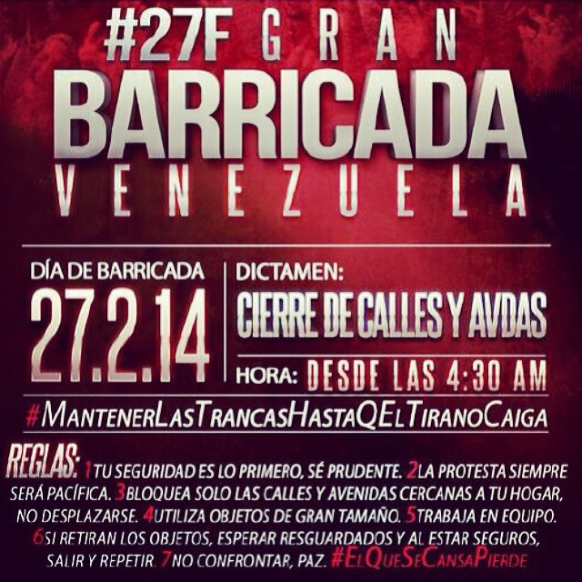 En toda VENEZUELA!!!  Es ahora!!! Sigue adelante!!! Que si puedes!!! Tu puedes!!! #venezuelasomostodos #venezuelacomoteextrano #venezuelatequierolibre #comomeduelesvenezuela #soyvenezolano #soytuvozvenezuela #somostuvozvenezuela #sosvenezuela #prayforvenezuela #lasalida #llegolahora #laluchasigue #fuerzavenezuela #resistencia #27f @venezolanosenmiami @venezuelaxti @venezuelalucha @rodnerfigueroa @leopoldolopez @liliantintori @mariacorinamachado