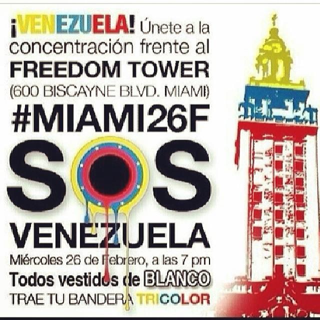 Vamos todos!!! Tenemos que seguir apoyando a nuestros hermanos venezolanos!!! Tenemos que seguir haciendo BULLA para que el mundo se entere de lo que esta pasando en VENEZUELA!!! El pueblo venezolano necesita de ayudaaaaaaaa!!!! Por todos los que perdieron su vida!!! Por todos los heridos!!! Por todos los presos!!! Por el que entrego su libertad!!! Tenemos que estar mas unidos que NUNCA!!! EL QUE SE CANSA PIERDE!!! #lasalida #llegolahora #laluchasigue #venezuelasomostodos #venezuelacomoteextrano #venezuelatequierolibre #comomeduelesvenezuela #fuerzavenezuela #26f #soyvenezolano #soytuvozvenezuela #somostuvozvenezuela #sosvenezuela #prayforvenezuela #elquesecansapierde @venezolanosenmiami @venezuelalucha @venezuelaxti @rodnerfigueroa @leopoldolopez @liliantintori #cnnespanol #cnn
