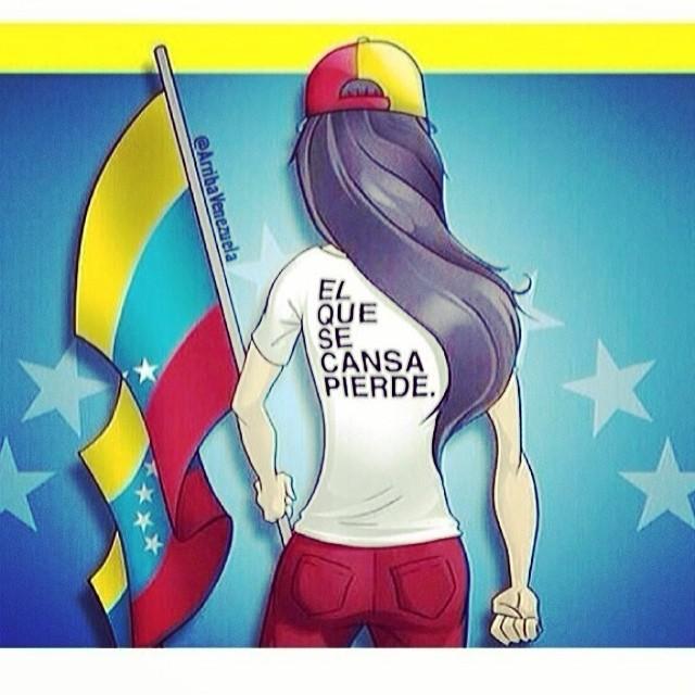 Estoy extremadamente feliz y orgullosa de mi pueblo venezolano!!! Quien asistió al llamado y se levantaron hoy hacer sus barricadas en cada una de sus ciudades!!! Así mismo es!!! Así es que debe ser!!! Sigamos en las calles!!! Sigamos protestando!!! Sigamos diciéndole a este gobierno que es lo que queremos!!! Y es que vayan!!! EL QUE SE CANSA, PIERDE!!! #lasalida #llegolahora #laluchasigue #venezuelacomoteextrano #venezuelatequierolibre #comomeduelesvenezuela #soyvenezolano #soytuvozvenezuela #somostuvozvenezuela #sosvenezuela #prayforvenezuela #elquesecansapierde #24f #fuerzavenezuela