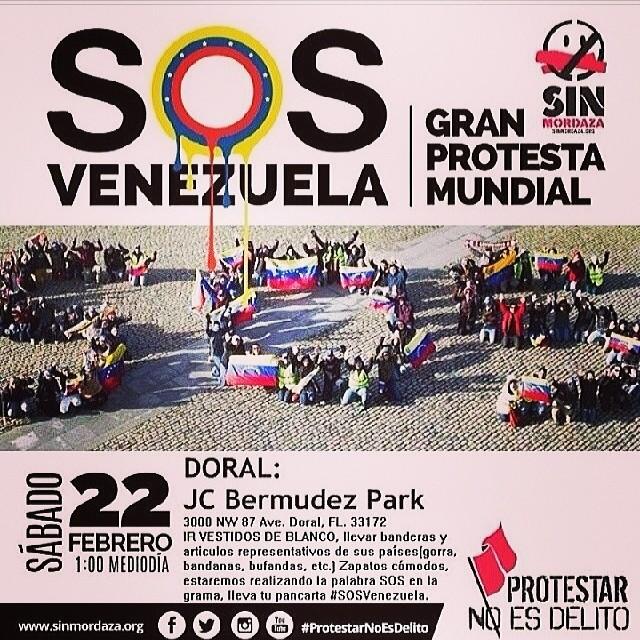 Mañana!!! TODO EL MUNDO con VENEZUELA!!! #sosvenezuela … Busca donde será la concentración mas cercana y apoyemos a los estudiantes en su lucha!!! Que el mu do se entere lo que esta pasando en Venezuela!!! #lasalida #llegolahora #laluchasigue #venezuelacomoteextrano #venezuelatequierolibre #comomeduelesvenezuela #soyvenezolano #soytuvozvenezuela #somostuvozvenezuela #prayforvenezuela #sosvenezuela
