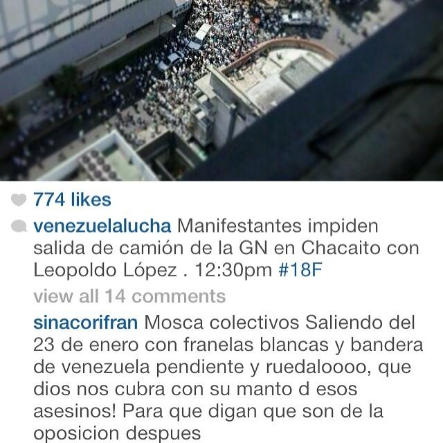Ese es mi pueblo venezolanoooo!!!! Nojodaaaaaa!!!! Arriba Venezuela!!!!! Venezuela y Leopoldo nos necesita ahora!!!! AHORA!!! No mañana AHORA!!! #lasalida #llegolahora #laluchasigue #venezuelacomoteextrano #venezuelatequierolibre #comomeduelesvenezuela #18f #sosvenezuela #soyvenezolano #prayforvenezuela