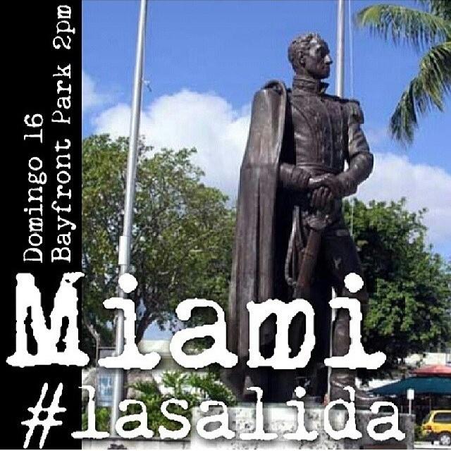 Si estas aqui en Miami acompañanos… No importan de donde seas… Si no estas de acuerdo con lo que nos esta pasando y quieres ser solidario VENTE!!!! Tu apoyo es importante!!! #venezuelatequierolibre #venezurlacomoteextrano #comomeduelesvenezuela #lasalida #llegolahora #laluchasigue #14f #13f #12f #2f