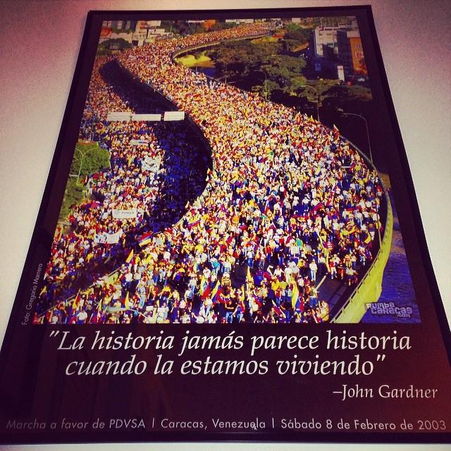 Cuadro que aun conservo en mi casa… Feb, 82003… Hace 11 años… Esto no puede seguir!!! Debemos seguir a los estudiantes… A los lideres opositores… Es ahora o nunca!!! Tenemos que hacer historia… Tenemos que apoyar la lucha por los derechos como ciudadanos… Y aunque parezca increible… El derecho de vivir… Y de vivir en paz!!!! #bastaya #lasalida #llegolahora #laluchasigue #venezuelatequierolibre #venezurlacomoteextrano #comomeduelesvenezuela #sosvenezuela #prayforvenezuela #soyvenezolano @venezolanosenmiami @venezuelalucha