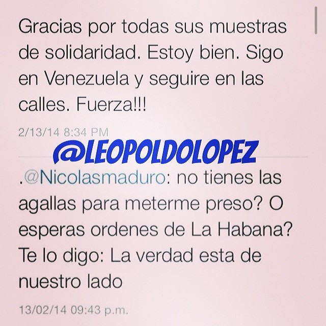 Asi se habla!!!! #lasalida #llegolahora #laluchasigue #venezuelatequierolibre #venezurlacomoteextrano #13f #14f #13fvnzlaenlacallenicolaspalconotevas #comomeduelesvenezuela @venezolanosenmiami @venezuelalucha