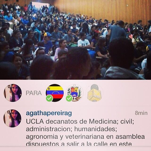 Dios bendice a nuestros estudiantes que con coraje y organización están dando el ejemplo… TODOS debemos apoyarlos… Todos debemos hacer lo mismo!!! Hay que seguir luchando… Hay que seguir hacia adelante!!! La Lucha sigue!!! Hay que seguir informando y trasmitiendo lo que esta sucediendo… #lasalida #llegolahora #laluchasigue #venezuelatequierolibre #venezurlacomoteextrano #2f #12f #13f #14f #13fvnzlaenlacallenicolaspalconotevas #soyvenezolano @venezuelalucha @venezolanosenmiami