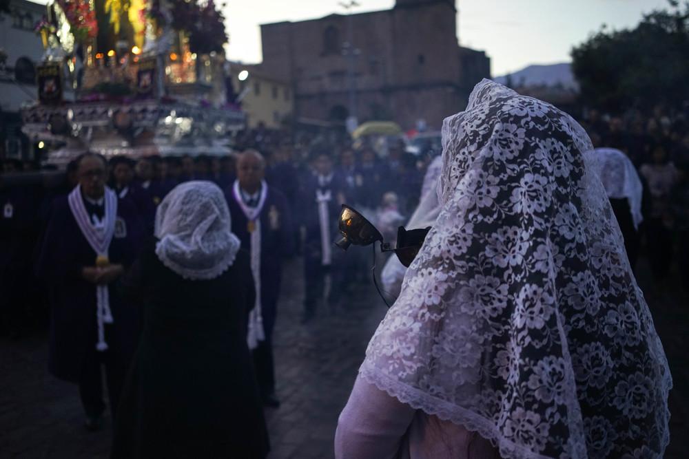 Señor de los Milagros.Cusco, Peru. October 2015