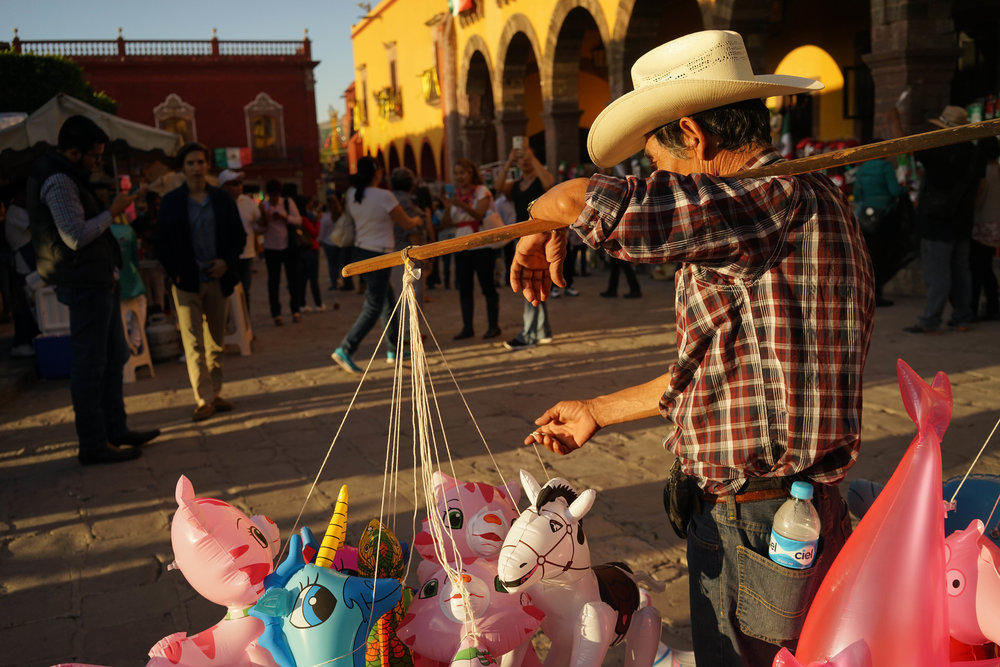 The Balloon Salesman. San Miguel de Allende, Mexico. September 2016
