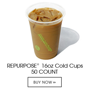 Repurpose Cold Cups are made 100% from plants, BPA free, renewable and compostable. Each unit contains 50 16oz clear cold cups. Can be used for cold liquids only.