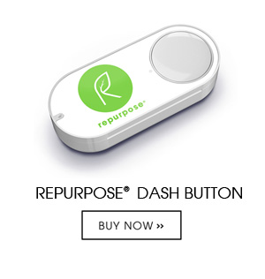 Dash Button is available to Amazon Prime members and allows easy reordering of Repurpose products with just the press of a button. Use the Amazon shopping app on your smartphone to easily connect the Dash Button to your home Wi-Fi network and then select the Repurpose product you want to reorder.