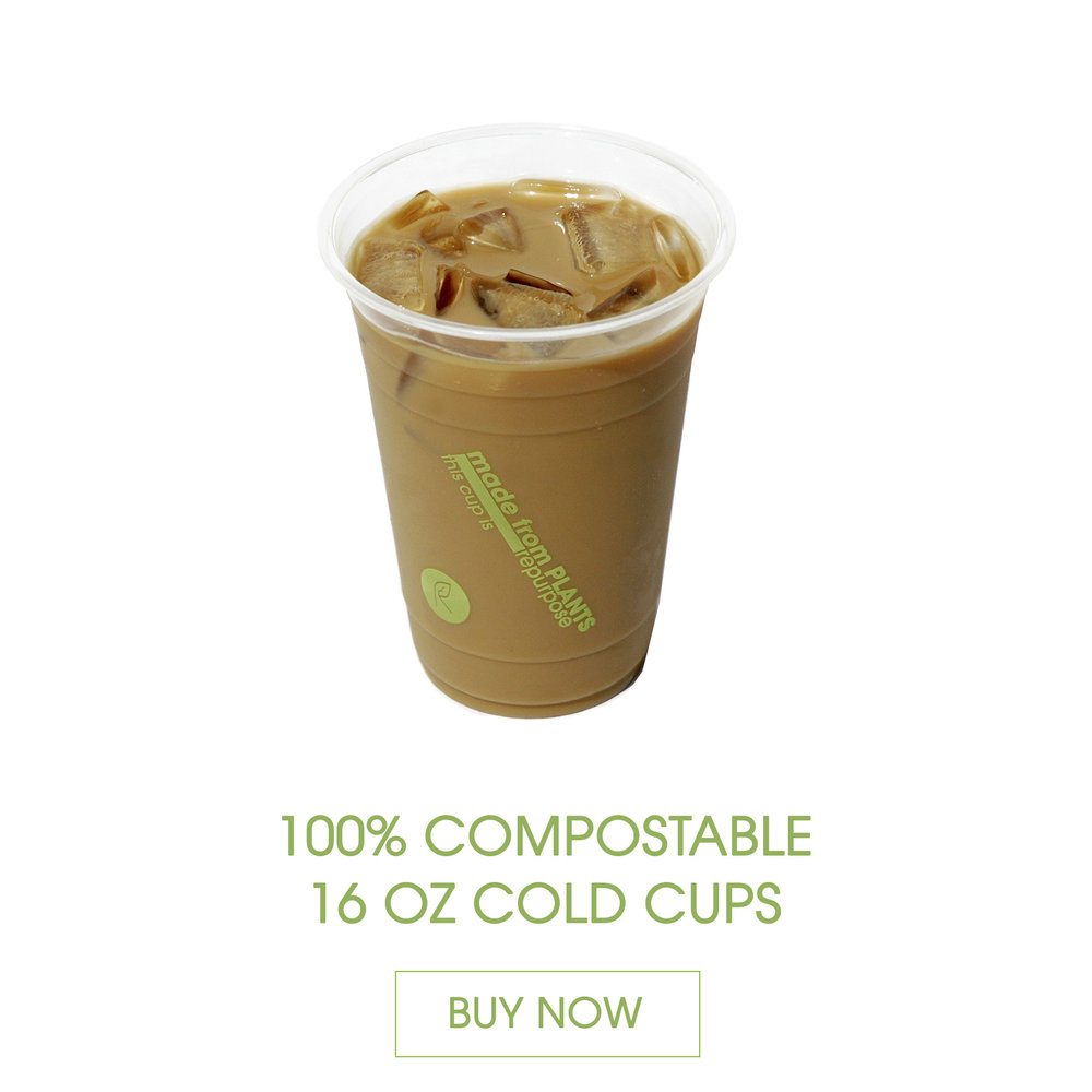 Repurpose Cold Cups are made 100% from plants, BPA free, renewable and compostable. Can be used for cold liquids only.