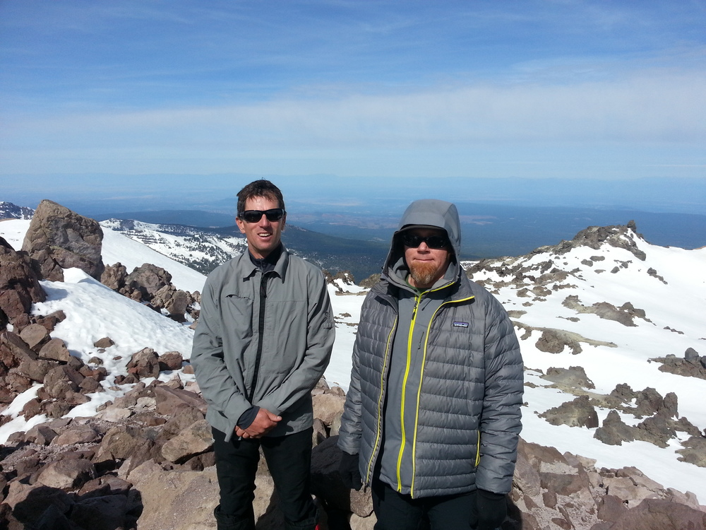 Summit of Mount Lassen - Steve Babits, Shawn Burrell - Friday, May 23, 2014