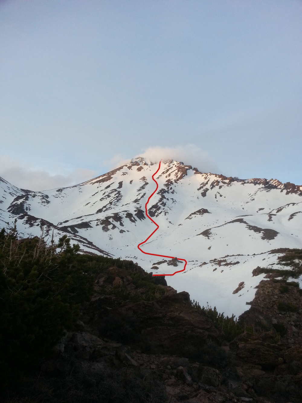 West Face Gully Route