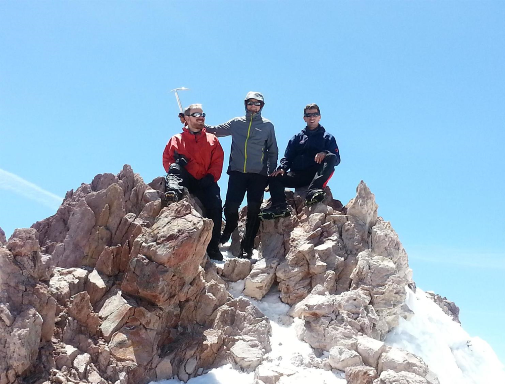 Summit of Mount Shasta - John Segal, Shawn Burrell, Steven Babits - May 24th 2014