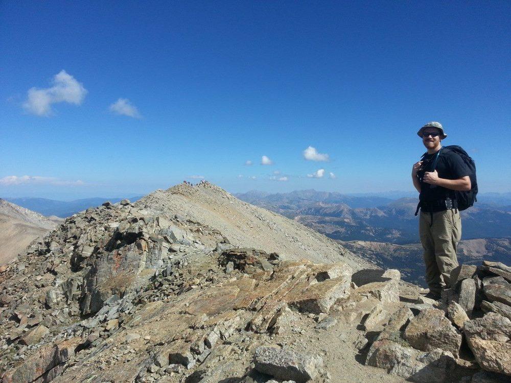 Summit ridge of Mount Massive - John - Friday September 6, 2013