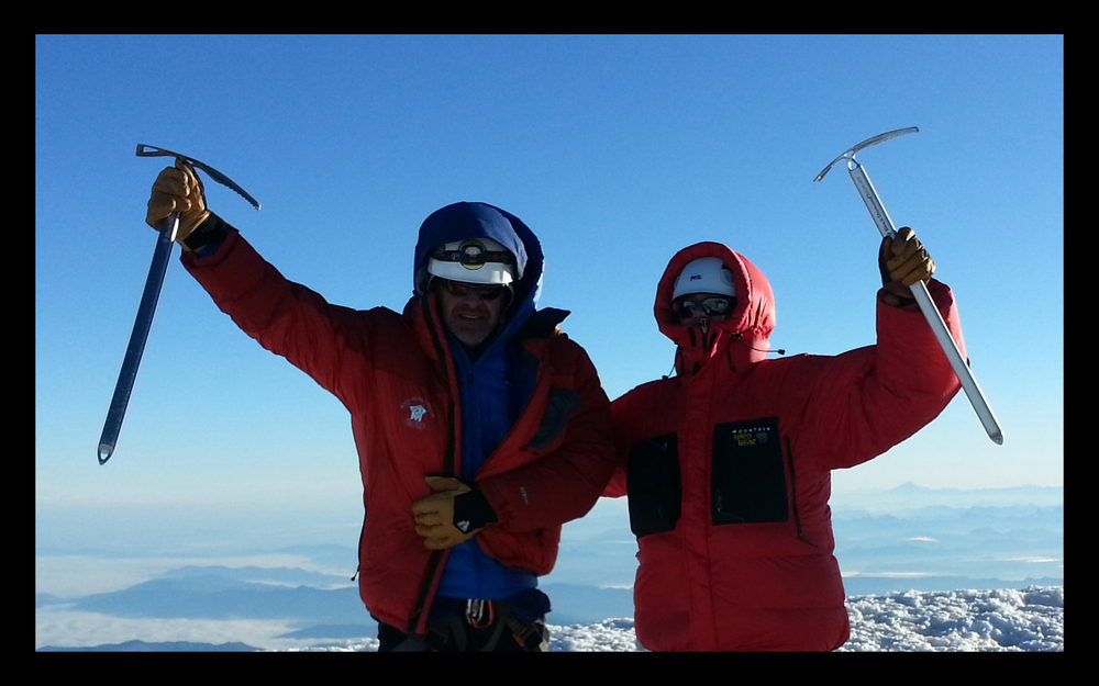 Doug and Shawn on Mount Rainier summit
