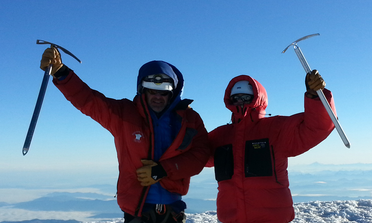 Summit of Mount Rainier - Doug Frint, Shawn Burrell - July 10, 2013