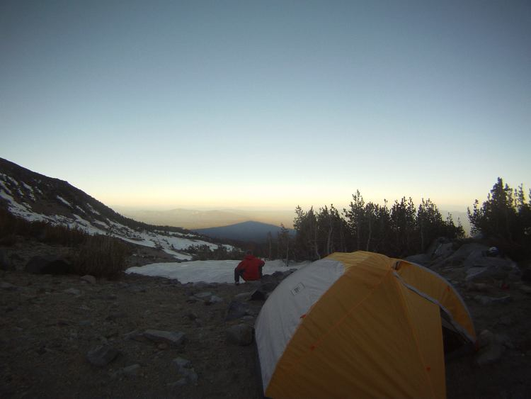 Base Camp a couple hundred feet above Clear Creek spring