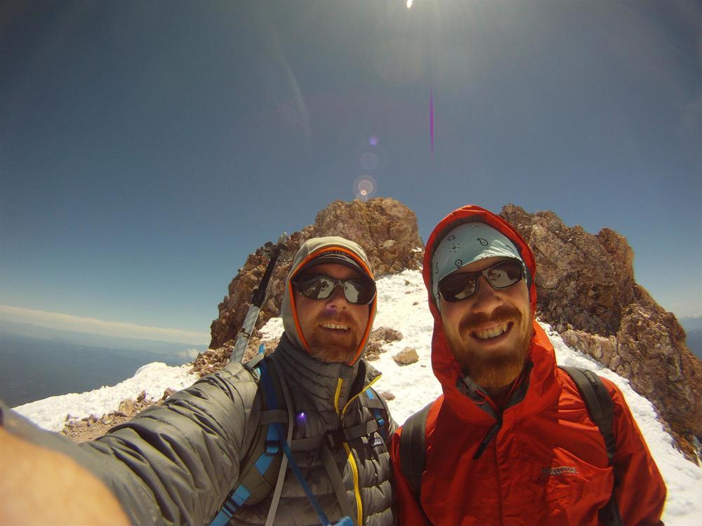 Summit of Mount Shasta -Shawn Burrell and John Segal - Saturday, June 1, 2013