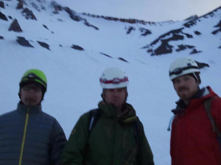 Shawn, Dan, and John at Helen Lake 10,400'