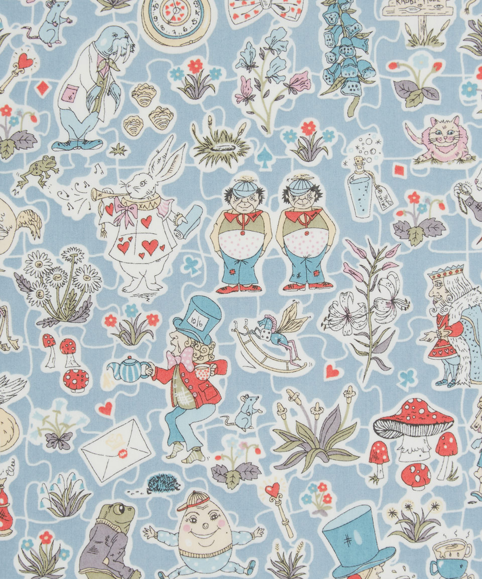 Image: Liberty art fabric inspired by Alice
