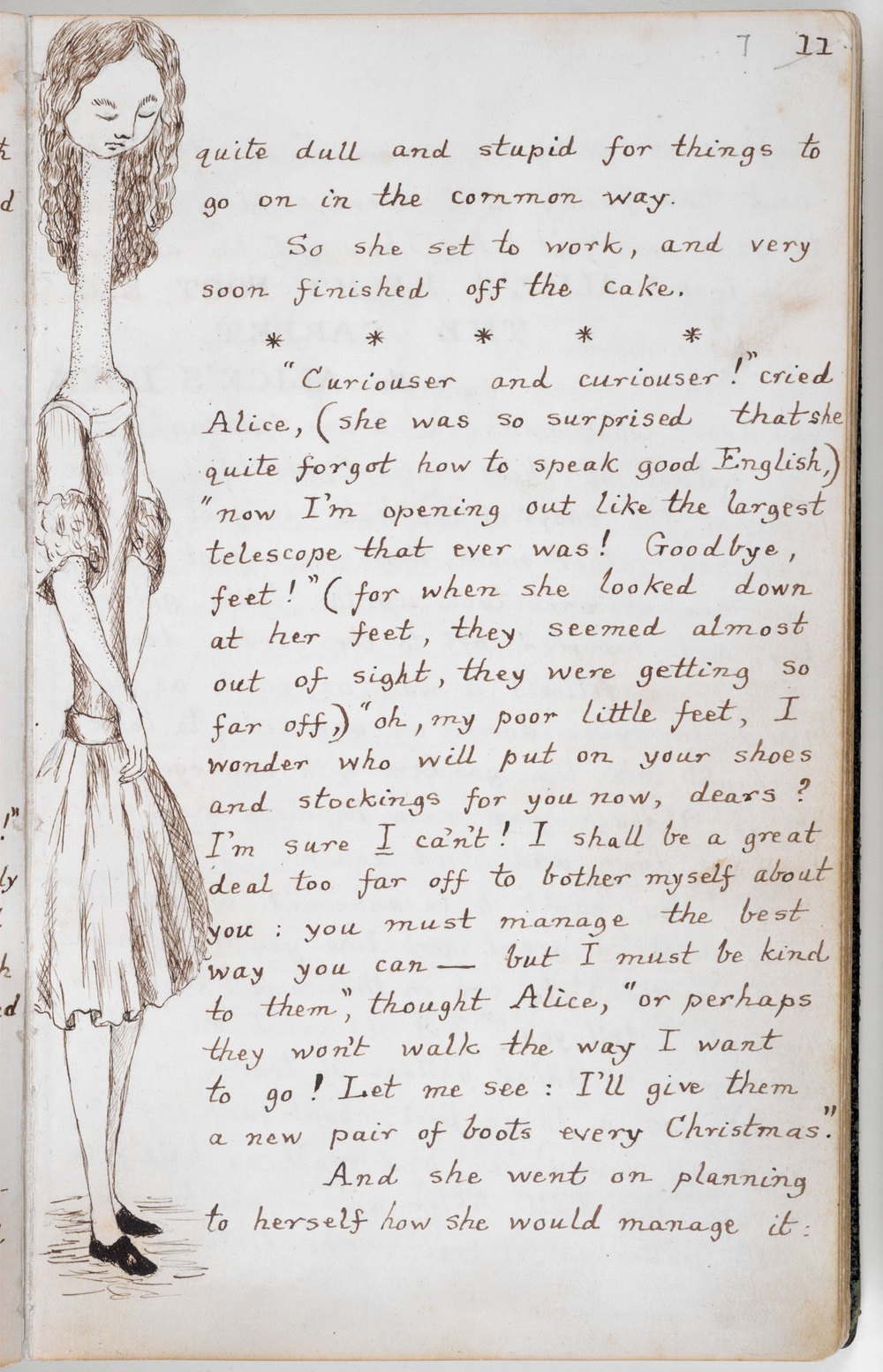 Image: Original Alice Underground manuscript, the British Library