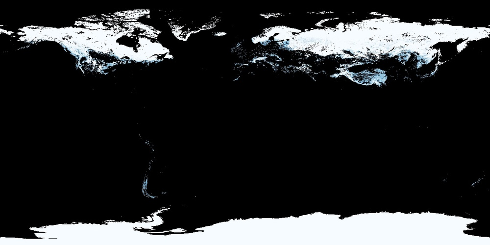 Earth Snowcover for March 2016 - courtesy of Nasa Earth Observations