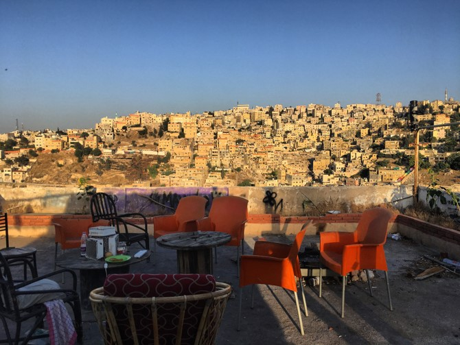 "This picture is of is my rooftop at ""Rainbow House."" We're a 10 person house in Jabel Amman with both locals and expats from all over the world. I'm lucky to have landed in this house! It's where I have met all of my friends and network."