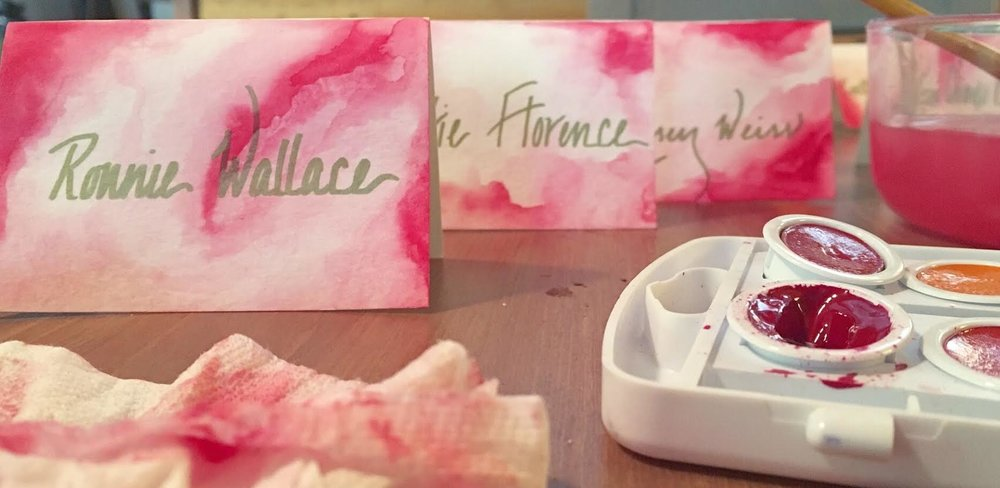 Journal abigail rose this past summer i had the privilege of making place cards for my best girlfriends wedding its a simple do it yourself project that i hope you will do solutioingenieria Gallery