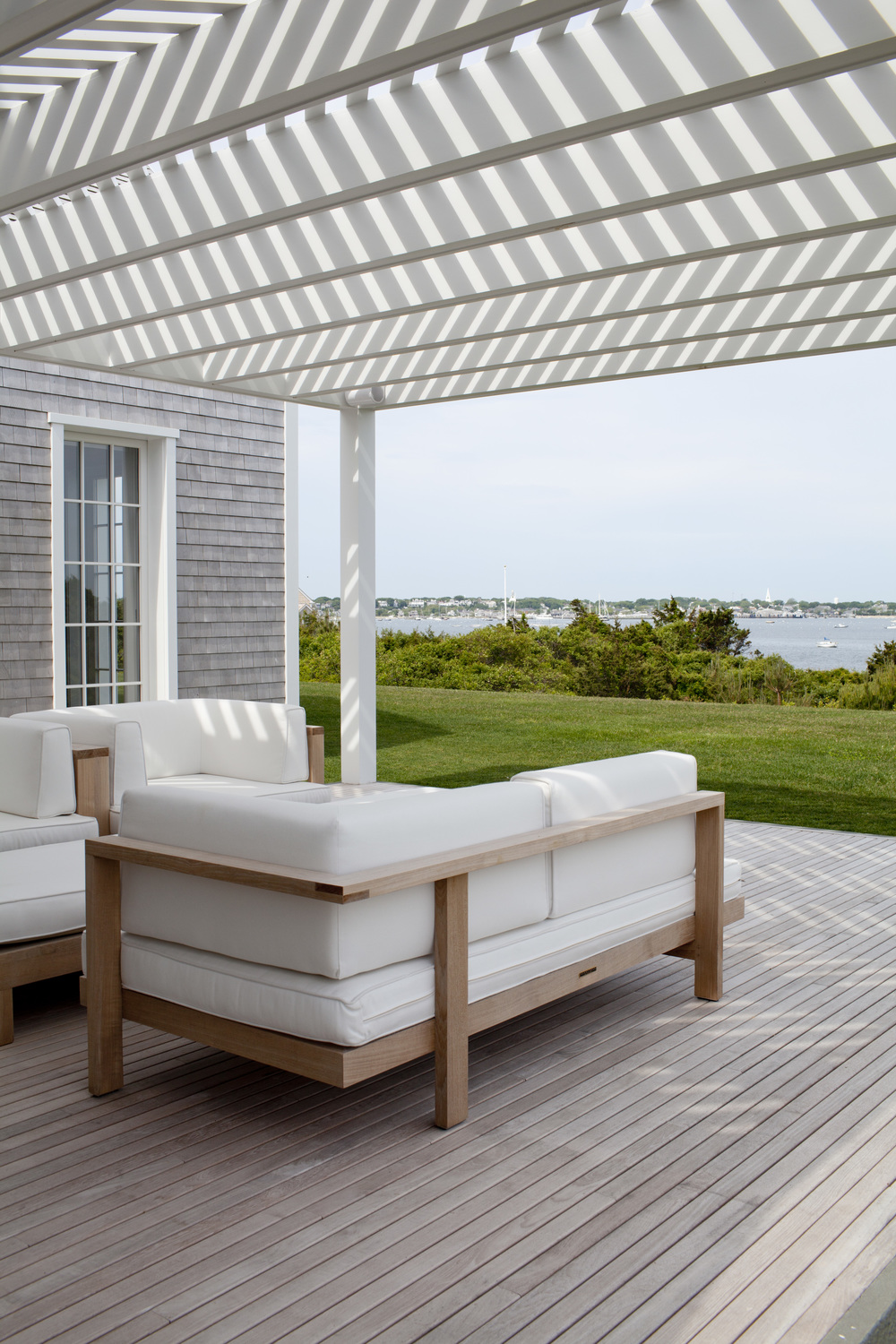 A view of Nantucket Harbor from the deck.