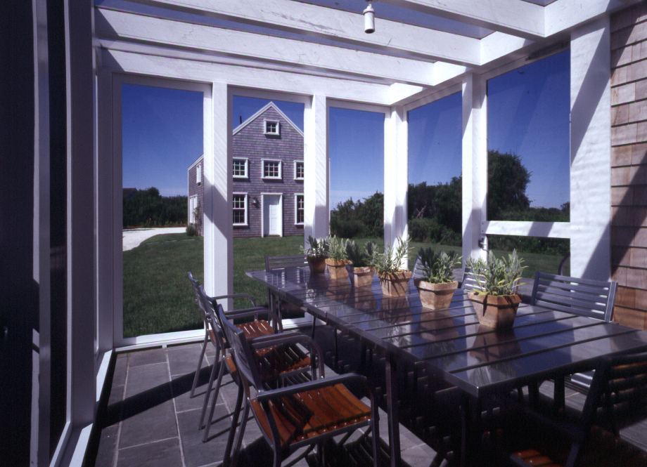 Screen porch dining in ACK.